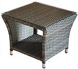 KMH®, Beistelltisch 'Tjorben' aus grauem Polyrattan (#106140)