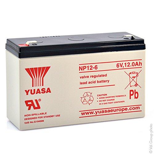 Yuasa - Batteria AGM Piombo NP12-6 6V 12Ah YUASA - Batteria/e