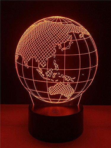 Kühle Globale 3D Led Erdkugel Karte Nachtlicht Schlafzimmer Tisch Rgb Bunte Lampe Rc Spielzeug Halloween Weihnachtsgeschenk Für Kinder Dekoration