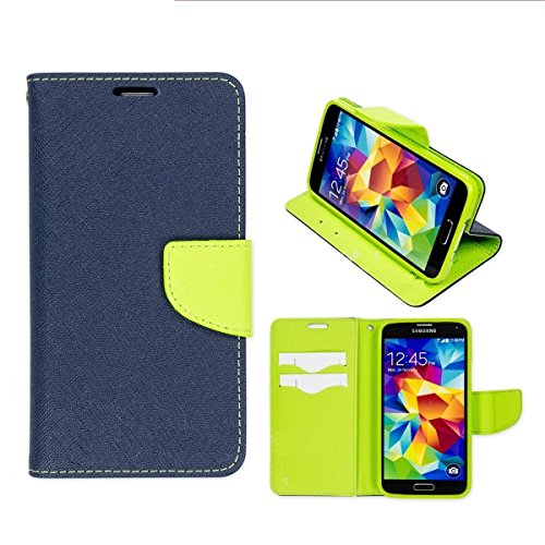Relax And Shop Luxury Wallet Style Flip Cover for Micromax Canvas Nitro A-310- Blue  available at amazon for Rs.179