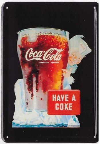 Coca Cola Targa in metallo - Have a coke - cartello Retro - decorazione per porta