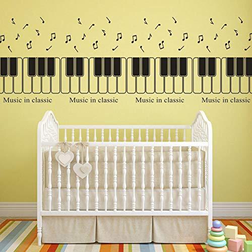 Yzybz Wandaufkleber Musik In Klassische Aufkleber Für Kinderzimmer Klavier Hinweis Abnehmbare Art Vinyl Wandbild Haus Klassenzimmer Dekor (Klavier Musik Halloween Für Klassische)