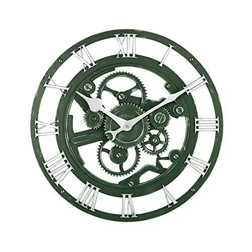 Jinrs orologio da parete, 14inch, stile vintage chic, antiquario, coffee shop, cucina, camera da letto, giardino, soggiorno, studio, ufficio, orologio da esterno,green