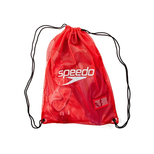 Speedo Equip Mesh Bag Borsa Nuoto, Red