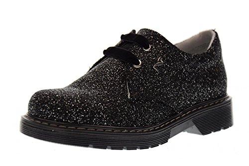 NERO GIARDINI Junior Chaussures lacées A732550F / 100 ARGENT NOIR (27/30)