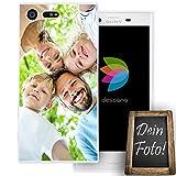 dessana Eigenes Foto transparente Schutzhülle Handy Tasche Case für Sony Xperia X Compact
