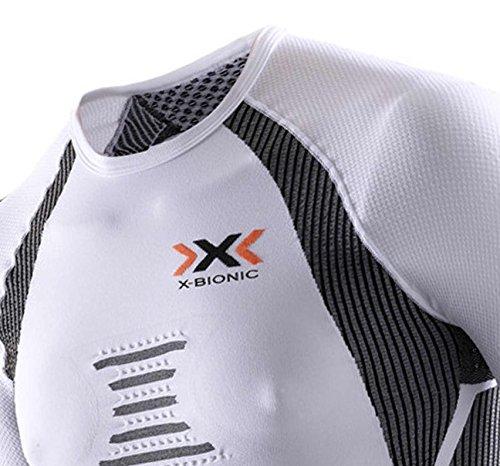 X-Bionic, Maglia funzionale da running Uomo the Trick Bianco/Nero