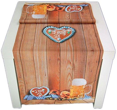 ausgefallene Tischdecke 43 x 136 cm I mog Di Biergarten Tischläufer Bayern Garten Bierzelt Oktober Hossner (Tischläufer 43x136 cm)
