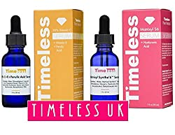 Timeless Skin Care Vitamin C+e Ferulic Acid & Matrixyl Synthe'6 Set - 1 Of Each 30ml 1oz Size - From Timeless Uk© The Primary Authorised Distributor Of Timeless Skin Care Range In Uk & Europe! Fresh Stock Guaranteed!