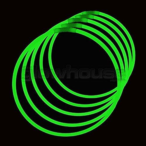 Premium Glühen-halsketten - 50 päckchen Glowhouse Marke - Grün (Glühen Grün, Halsketten)