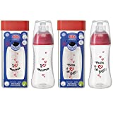 bibi 2 er Set Happiness Flasche 260ml mit Dentalsauger I love Mama und Papa is the Best