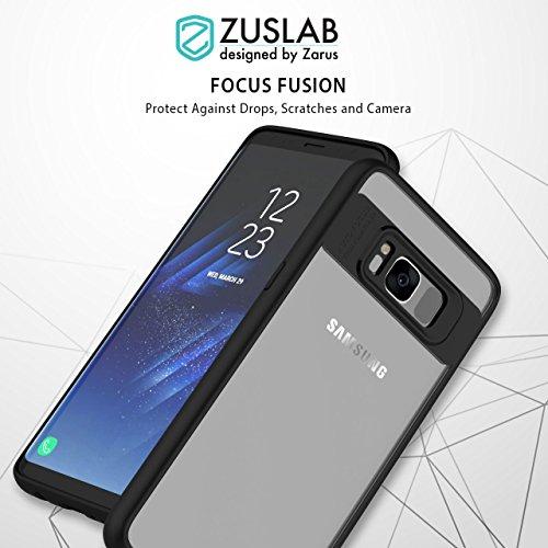 ZUSLAB Galaxy S8 Hülle, Stoßfest Fallschutz TPU Weich Bumper Transpanrent PC Hinten Hybrid Handy-hülle für Samsung Galaxy S8 - Rosa Rosa