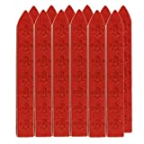 uniqooo Arts & Crafts 12 Siegelwachs-Sticks für Wachsstempel rot rot