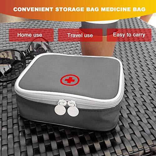 51lb1OFdQpL - LeobooseMini Bolsa de botiquín de primeros auxilios para viaje al aire libre Paquete de medicina portátil Bolsas de equipo de emergencia Bolsa de almacenamiento de pastillas Pequeño organizador