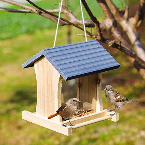 Wild Vogel Zubringer Hölzern Vogelhaus Schutz Zubringer Perfekt Zum Garten Dekoration Und Vögel Beobachten Zum Vogelfreund. Cacoffay
