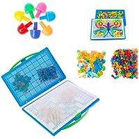 Xuniu Niños Seta Uñas Peg Puzzle Rompecabezas Creativo Pegboard Mosaico