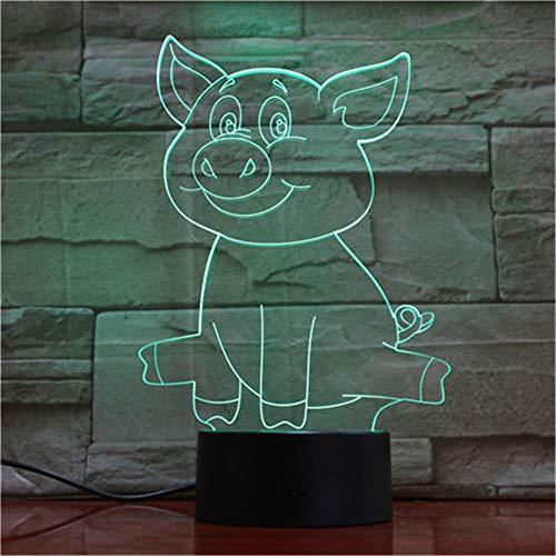 Maiale carino 3D lampada da tavolo a LED lampada da tavolo a LED sensore USB luce notturna scultura moda lampada decorativa come decorazione camera da letto 3 regolato