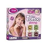 Tytoo Glamorous Glitzertattooset, mit 35 Schablonen - Hypoallergen, ohne Tierversuche hergestellt – für 8–18 Tage, temporäre Tattoos