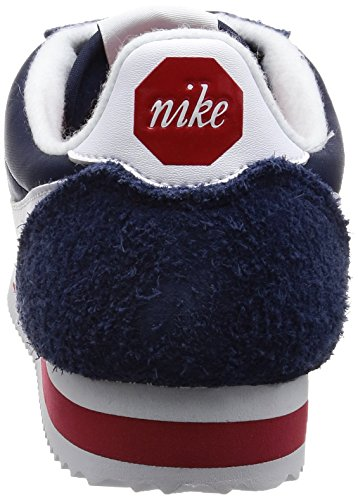 Nike Cortez Nylon Prem, Sneakers Basses Homme, Bleu Bleu (Midnight Navy/white/varsity Red)