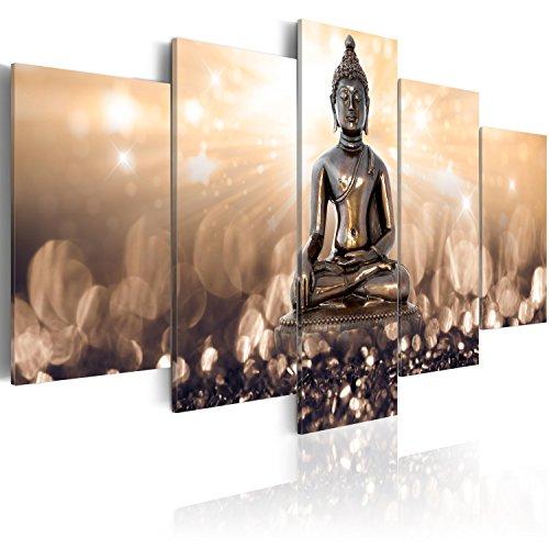 murando - Cuadro en Lienzo 200x100 cm - Buda - Impresion en calidad fotografica - Cuadro en lienzo tejido-no tejido - h-C-0012-b-n