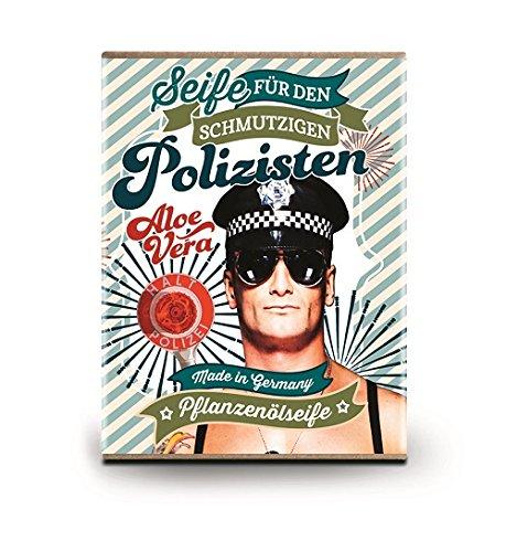 Preisvergleich Produktbild Frech lustige Seife 100g Pflanzenölseife Aloe Vera (Polizist)
