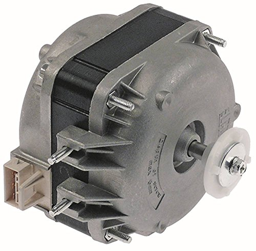 ELCO Lüftermotor 230V Gleitlager 50/60Hz 10W Anschluss Plug L1 49mm L2 38mm L3 86mm Breite 65mm In