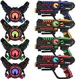 ArmoGear Infrarot-Laser-Tag-Waffen und Westen - Laser Battle Mega Pack Set 4 - Infrarot-0.9mW
