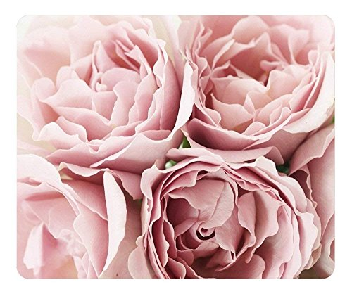 Mouse Pad Pink Roses Oblong Shaped Mouse Mat Design Natural Eco Rubber Durable Computer Desk Stationery Accessories Mouse Pads for Gift -