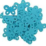 maDDma ® 50 Filz Schmetterlinge, Streudeko, Tischdeko, in Verschiedenen Farben, Farbe:Hellblau