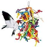 Abestbox groß Parrot / Birds Cage Spielzeug, Preening Spielzeug mit natürlicher Lebensmittelfarbe