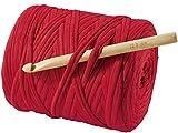 CRELANDO Textilgarn-Häkelset Lina (Rot)