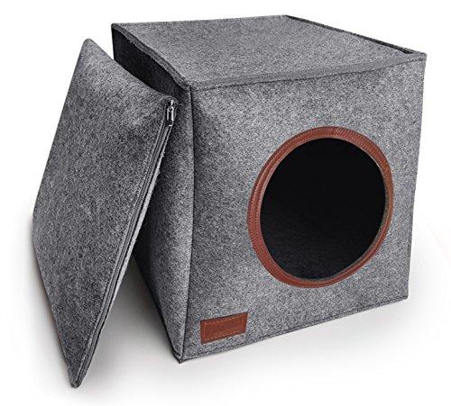 PurrCave Katzenhöhle inkl. Kissen | Passend für z.B. IKEA® Expedit & Kallax Regale