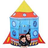Tenda da Gioco Missile per Bambini 138 x 90 cm Giardino Casa Campeggio Interni