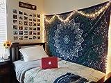 GANESHAM HANDICRAFTS ganesham Indischen Wand Wanddeko Zum Aufhängen Hippie Bohemian Ethnic Mandala Tapisserie Strandtuch Single Bettwäsche Boho Decor 137,2x 213,4cm