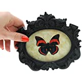 NEW VINTAGE STYLE CLASSIC BLACK OVAL PHOTO FRAME