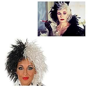 Perruque Cruella Deville pour déguisement 101 dalmatiens