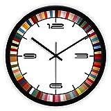 &wanduhr Wanduhr Nicht tickenden römischen Sweep Bewegung dekorative für Küche Wohnzimmer Badezimmer Schlafzimmer Büro Quarz (Farbe : 14inch, größe : B)