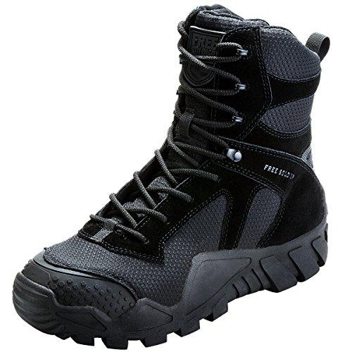 FREE SOLDIER Hombres Militares High-Top Zapatos táctico Senderismo Botas Cordones Trabajo Combate...