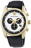 Emporio Armani Herren-Armbanduhr XL Chronograph Quarz Leder AR6006