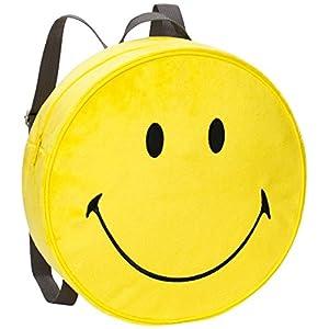 51lb89nEK8L. SS300  - NICI 40727–Mochila Smiley Amarillo Peluche Diámetro 30x 10cm