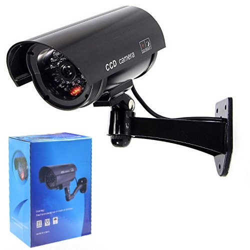 NOVICZ Black Dummy Cam Security CCTV Fake Bullet Camera Cam With LED Light Indication  available at amazon for Rs.295