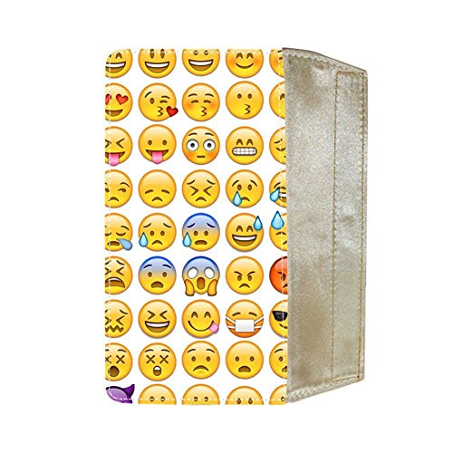 Printing Emoji 1 Obvious Cotton Fabric For Wallet For Womon (Velcro Wallet Womens)