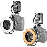Bestlight® 48 LED Macro Lumière Flash Annulaire avec 6 Anneaux d'Adaptateur (49mm, 52mm, 55mm, 58mm, 62mm, 67mm) pour Canon EOS Rebel SL1 (100D), T5i (700D), T4i (650D), T3 (1100D), T3i (600D), T1i (500D), T2i (550D), XSI (450D), XS (1000D), XTI (400D), XT (350D), 1D C, 70D, 60D, 60Da, 50D, 40D, 30D, 20D, 10D, 5D, 1D X, 1D, 5D Mark 2, 5D Mark 3, 7D, 6D, Nikon D5300, D5000, D3000, D3200, D5100, D5200, D3100, D7000, D7100, D4, D800, D800E, D600, D610, Appareils Photo Reflex