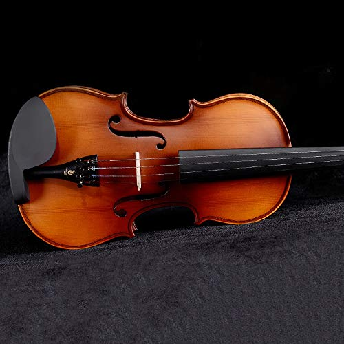 Miiliedy 1/8 1/4 4/2 3/4 4/4 violino fatto a mano bambino adulto professionale pratica dolce violinista violino con violino box arco colofonia corde extra panno di lucidatura mento resto