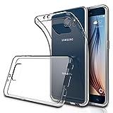 CoolGadget Samsung Galaxy S6 Hülle, Ultra Thin Tasche Cover Schlank Weich Flexibel Anti-Kratzer Schutzhülle Abdeckung Case, Dursichtiges Silikon Cover für Galaxy S6 Transparent-Case