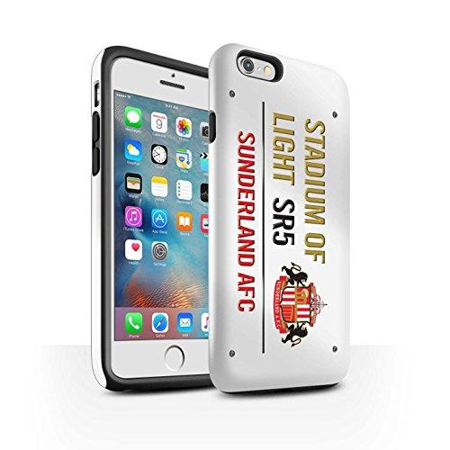 Offiziell Sunderland AFC Hülle / Glanz Harten Stoßfest Case für Apple iPhone 6S+/Plus / Pack 6pcs Muster / SAFC Stadium of Light Zeichen Kollektion Weiß/Gold