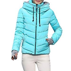 serliy😛Frauen-Starke Oberbekleidung-mit Kapuze Mantel Kurze dünne Baumwolle-aufgefüllte Jacken Mäntel einfarbig Revers…