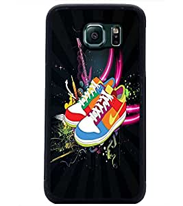 PrintDhaba Shoes D-4024 Back Case Cover for SAMSUNG GALAXY S6 (Multi-Coloured)