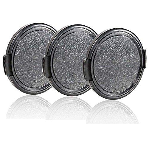 28mm Objektivdeckel, cam-ulata 3er Pack Universal Kunststoff Snap auf Seite Pinch Lens-Kappen Set mit Mikrofaser Reinigungstuch für Canon Nikon Sony Olympus DSLR-Kamera -