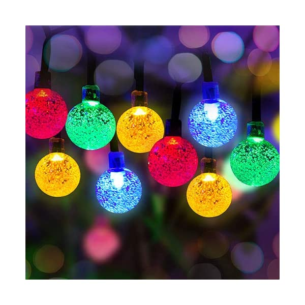 50 LED Solar Powered Outdoor String Lights 1